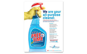 House Cleaning & Housekeeping - Flyer