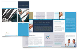 Small Business Consulting - Adobe Illustrator Brochure Template