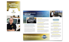 Security Guard - Microsoft Word Tri Fold Brochure