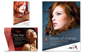 Hair Stylist & Salon - Flyer & Ad
