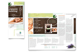 Day Spa - Microsoft Publisher Tri Fold Brochure Template