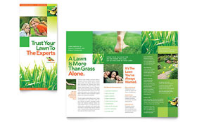 Lawn Maintenance - Apple iWork Pages Tri Fold Brochure Template
