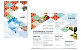 Window Cleaning & Pressure Washing - Apple iWork Pages Brochure