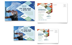 Window Cleaning & Pressure Washing - Postcard Template