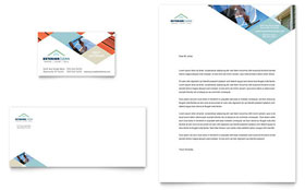 Window Cleaning & Pressure Washing - Business Card & Letterhead Template