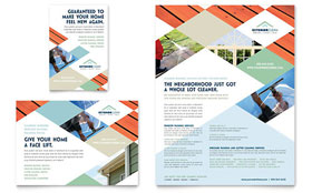 Window Cleaning & Pressure Washing - Leaflet Template