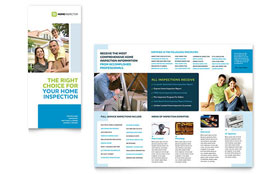 Home Inspection & Inspector - Microsoft Word Tri Fold Brochure Template