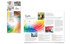 House Painting Contractor - Tri Fold Brochure
