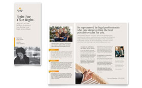 Legal Advocacy - Graphic Design Tri Fold Brochure