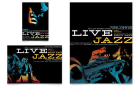 Jazz Music Event - Flyer & Ad Template