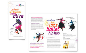 Dance Studio - Microsoft Word Brochure