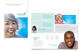 Dental Care - Brochure Template