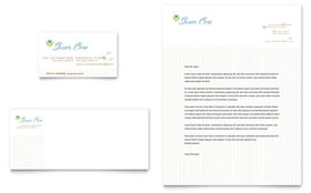 Elder Care & Nursing Home - Business Card & Letterhead Template