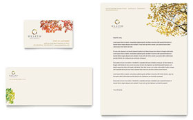 Health Insurance Company - Business Card & Letterhead