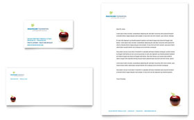 Healthcare Management - Business Card & Letterhead Template