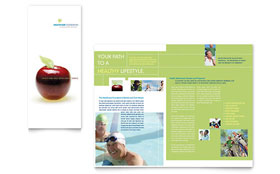 Healthcare Management - Microsoft Word Tri Fold Brochure