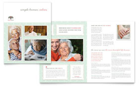 Senior Care Services - Adobe Illustrator Brochure