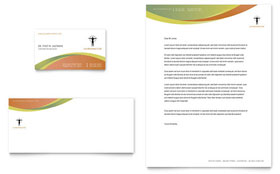 Massage & Chiropractic - Business Card & Letterhead Template