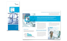 Science & Chemistry - Apple iWork Pages Tri Fold Brochure Template