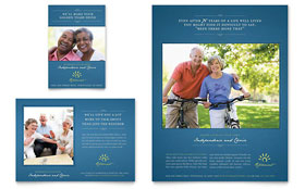 home care brochure template - senior living community flyer ad template