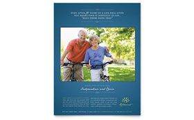 Senior Living Community - Flyer Template