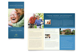 Senior Living Community - QuarkXPress Tri Fold Brochure Template