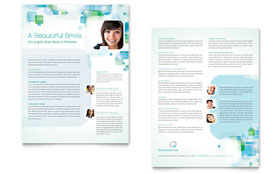 Orthodontist - Sales Sheet Template
