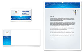 Reflexology & Massage - Business Card & Letterhead Template