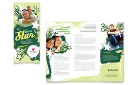 Child Advocates - Adobe InDesign Tri Fold Brochure Template