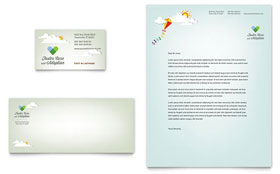 Foster Care & Adoption - Business Card & Letterhead Template