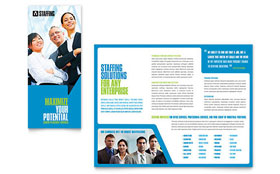 Staffing & Recruitment Agency - Desktop Publishing Brochure