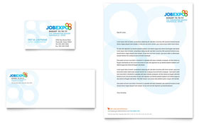 Job Expo & Career Fair - Business Card & Letterhead Template