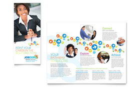Job Expo & Career Fair - Microsoft Word Tri Fold Brochure Template