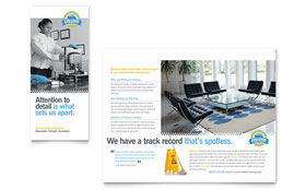 Janitorial & Office Cleaning - Microsoft Word Tri Fold Brochure Template
