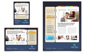 Secretarial Services - Flyer & Ad Template