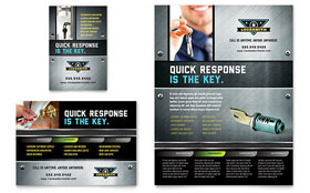 Locksmith - Print Ad Template