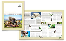 Nature & Wildlife Conservation - Adobe InDesign Brochure