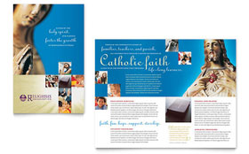 Catholic Parish and School - Apple iWork Pages Brochure Template