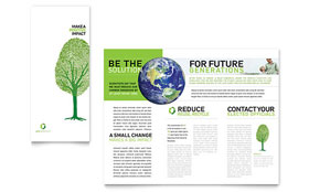 Environmental Non Profit - Microsoft Word Tri Fold Brochure
