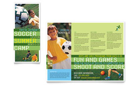 Soccer Sports Camp - QuarkXPress Brochure