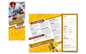 Football Sports Camp - Tri Fold Brochure