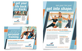 Health & Fitness Gym - Flyer & Ad Template