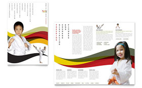 Karate & Martial Arts - Adobe Illustrator Brochure