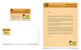 Baseball Sports Camp - Business Card & Letterhead