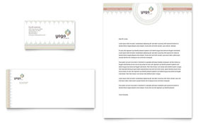 Pilates & Yoga - Letterhead Template