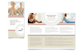 Pilates & Yoga - Tri Fold Brochure