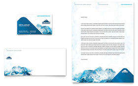 Ski & Snowboard Instructor - Business Card & Letterhead Template