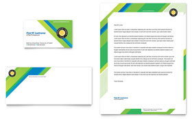 Tennis Club & Camp - Business Card & Letterhead Template