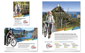 Bike Rentals & Mountain Biking - Flyer & Ad