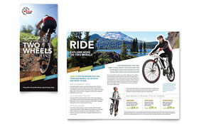 Bike Rentals & Mountain Biking - Tri Fold Brochure